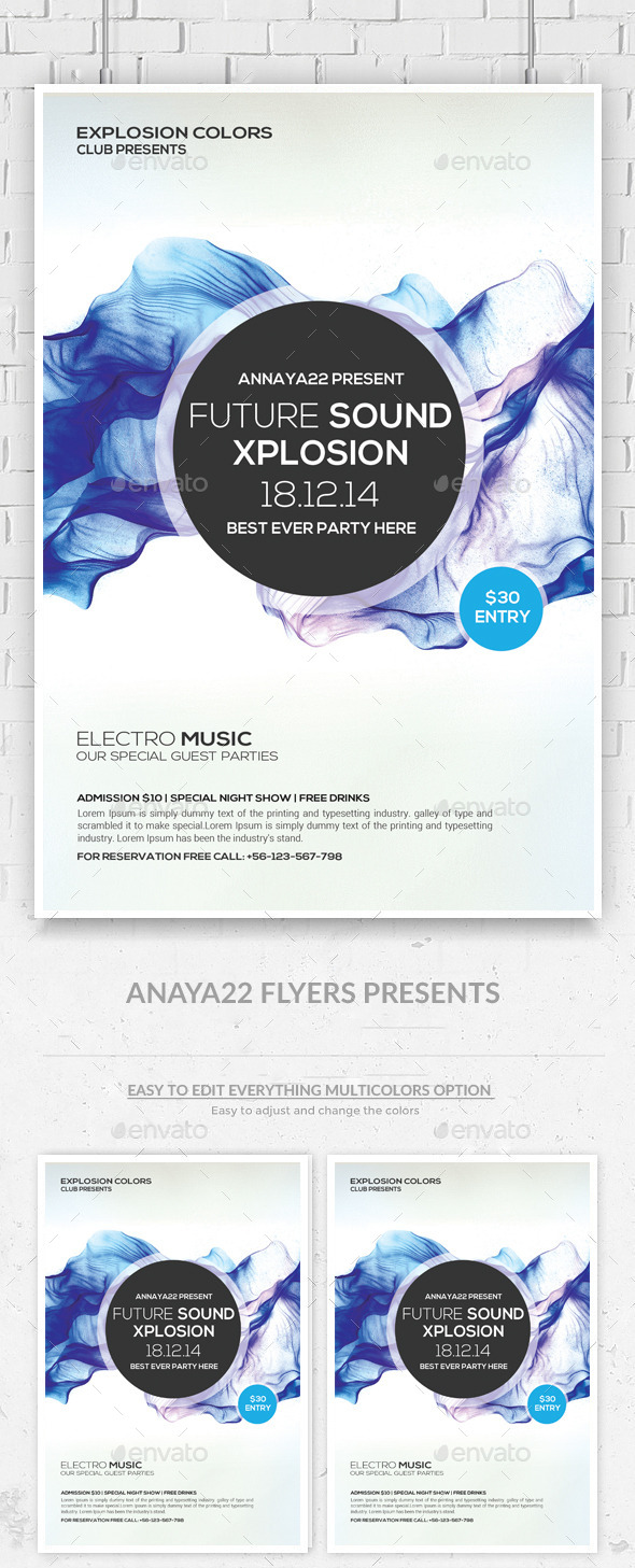 GraphicRiver Minimal Abstract Flyer Templates 9323830