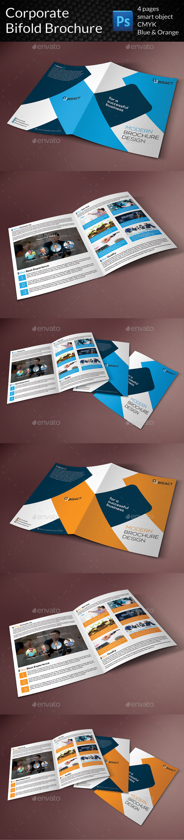 GraphicRiver Corporate Bifold Brochure 9323924