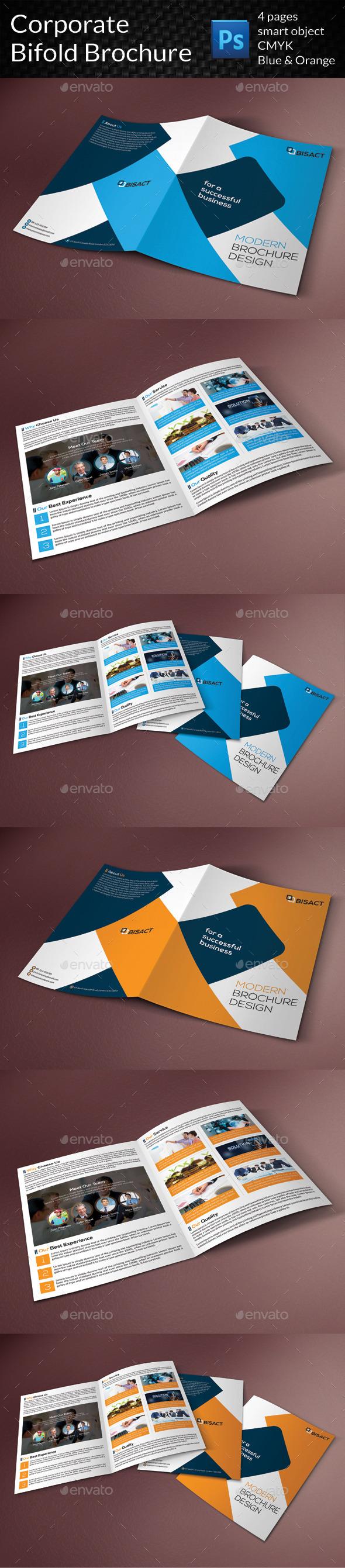 GraphicRiver Corporate Bifold Brochure 9323924