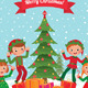 Elves and Christmas Tree - GraphicRiver Item for Sale