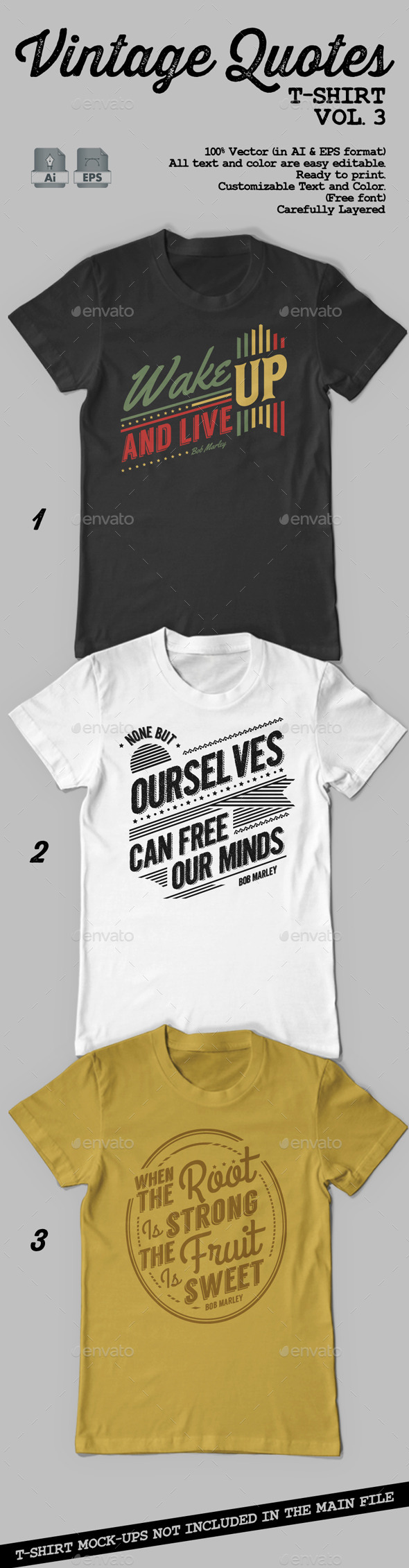 GraphicRiver Vintage Quotes T-Shirt Vol 3 9324264
