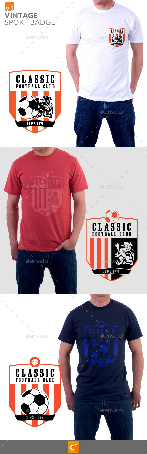 Vintage Sport Badge T-shirt