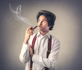 Man smocking a pipe  - PhotoDune Item for Sale