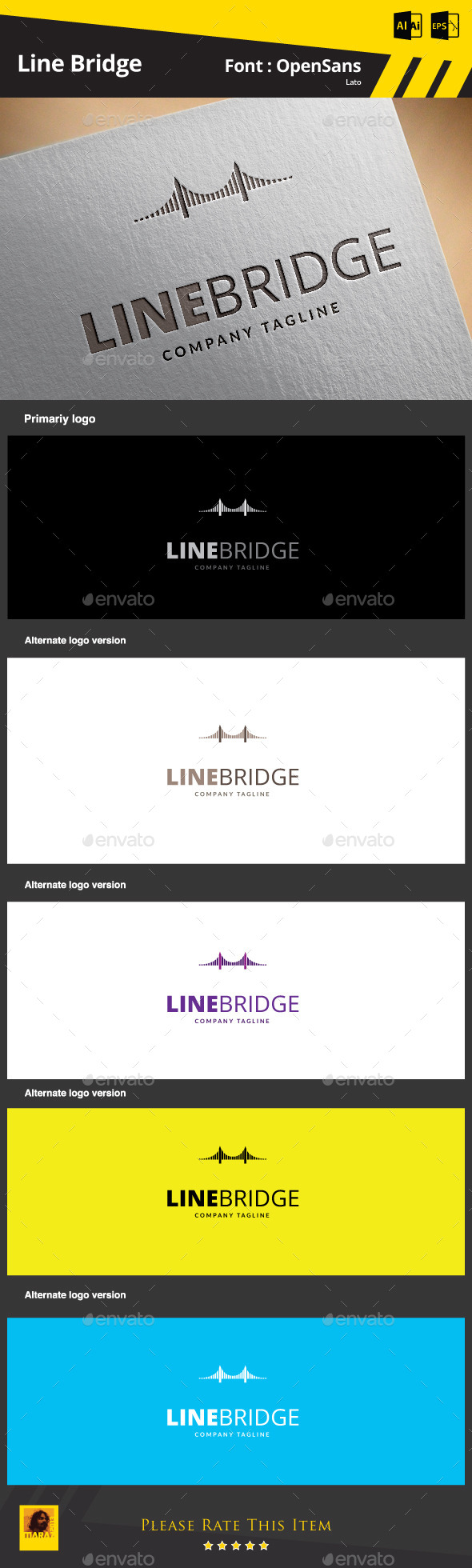 GraphicRiver Line Bridge Logo Template 9324835