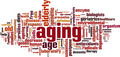Aging Word Cloud Concept. Vector Illustration - PhotoDune Item for Sale