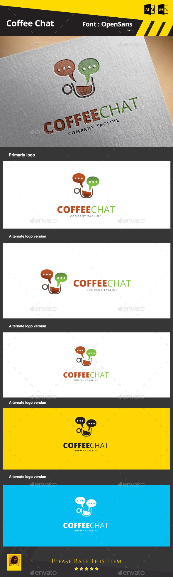 GraphicRiver Coffee Chat Logo Template 9325001