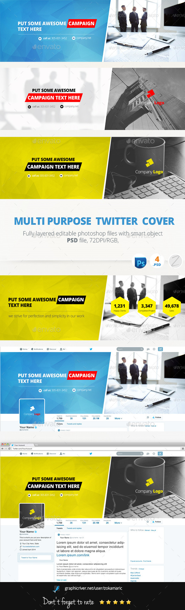 GraphicRiver Multi Purpose Twitter 9325012