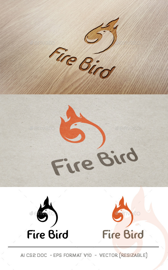 GraphicRiver Fire Bird V2 Logo 9325040