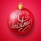 Merry Christmas Bauble with Lettering Design - GraphicRiver Item for Sale