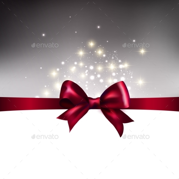 GraphicRiver Abstract Christmas Llight Background with Ribbon 9325065