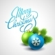Merry Christmas Card with Lettering - GraphicRiver Item for Sale