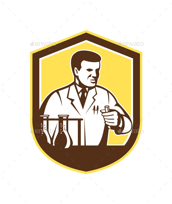 GraphicRiver Scientist Lab Researcher Chemist Shield 9325177