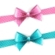 Blue and Pink Polka Dot Bow - GraphicRiver Item for Sale