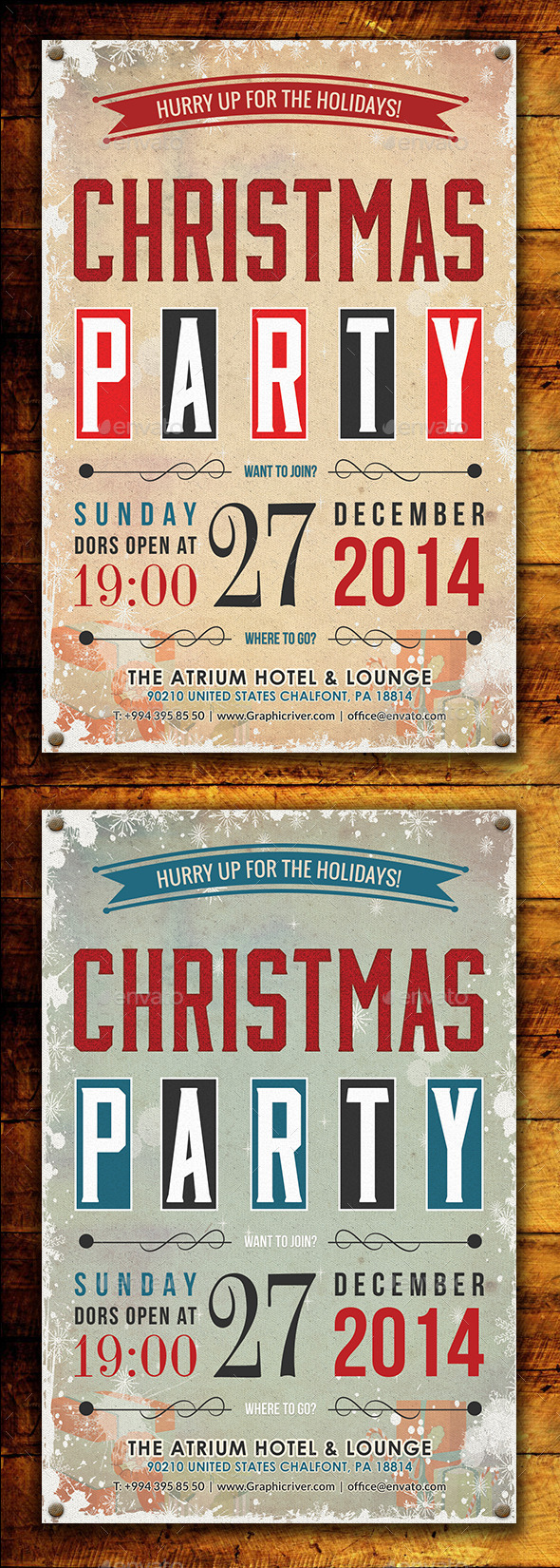 GraphicRiver Christmas Party Flyer Template 9279999