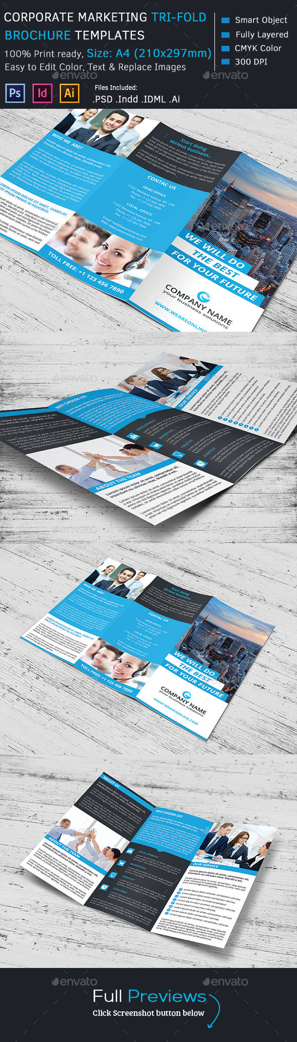 GraphicRiver Corporate Marketing Tri-Fold Brochure 9325387