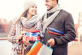 Beautiful couple with Christmas presents - PhotoDune Item for Sale