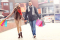 Cheerful couple shopping in the city - PhotoDune Item for Sale