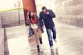 Couple running in the rain - PhotoDune Item for Sale