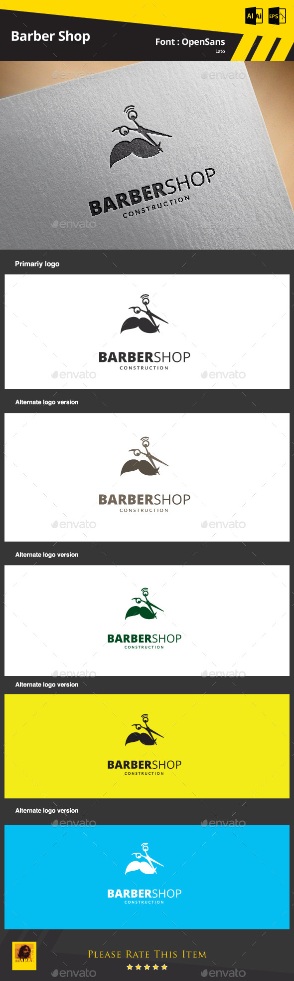 GraphicRiver Barber Shop 9325406