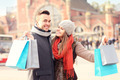 Happy couple shopping in the city - PhotoDune Item for Sale