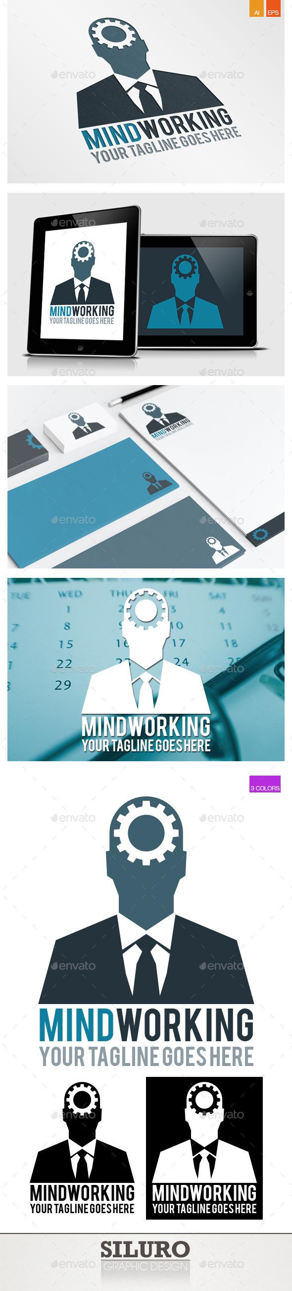 GraphicRiver Mind Working Logo 9325526