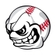 Baseball Cartoon Ball - GraphicRiver Item for Sale
