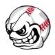 Baseball Cartoon Ball - GraphicRiver Item for Sale