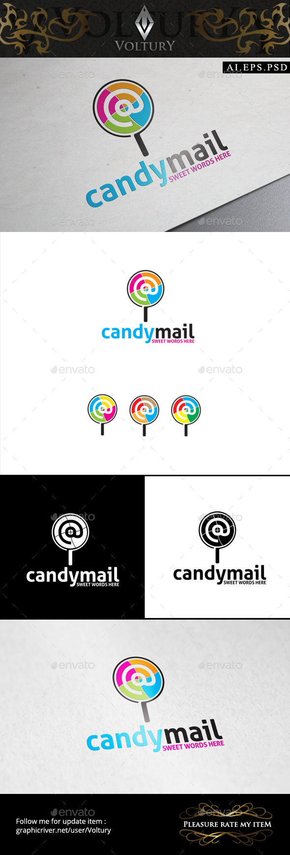 GraphicRiver Candy Mail Logo 9325740