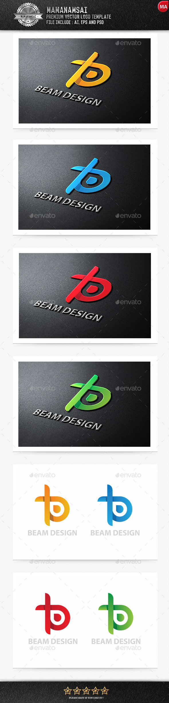 GraphicRiver Beam Design Logo 9325758