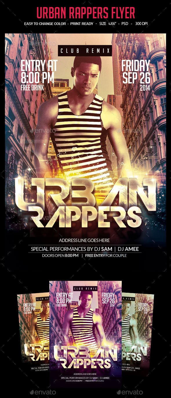 GraphicRiver Urban Rappers Flyer 9326439