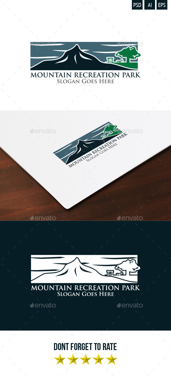 GraphicRiver Mountain Recreation Park Logo 9326451