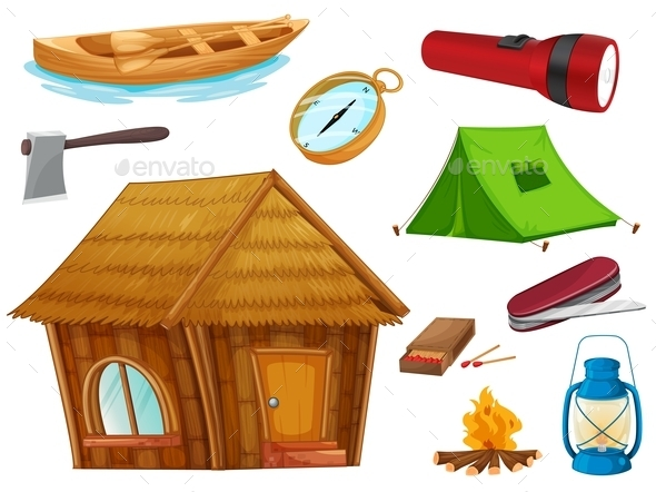 GraphicRiver Camping Objects 9326831