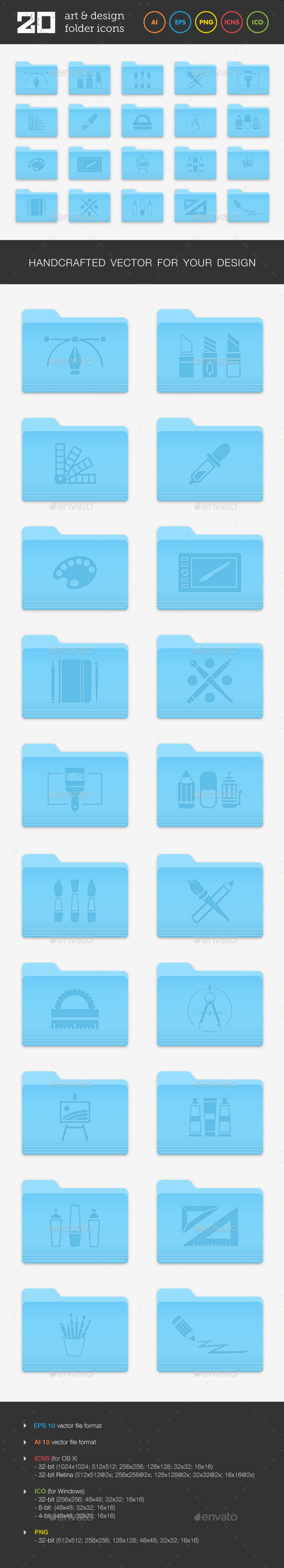 GraphicRiver Art and Design Folder Icons Set 1 9304188