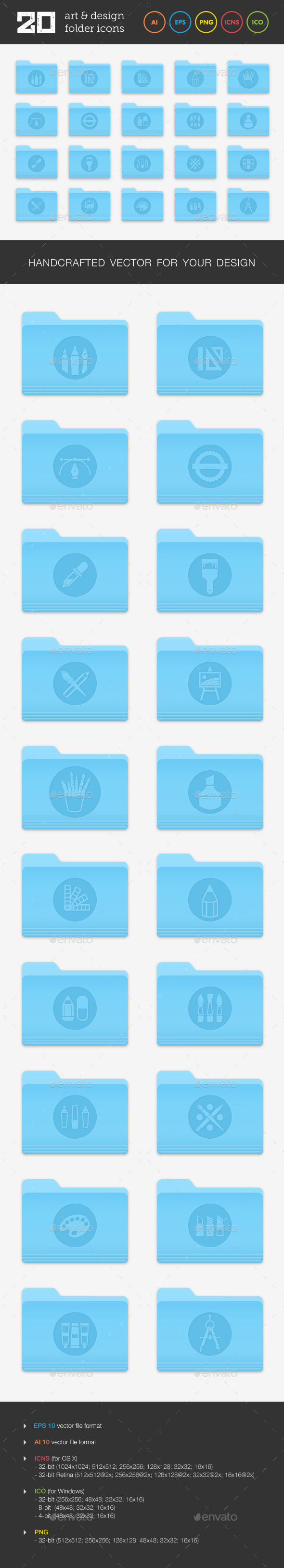 GraphicRiver Art and Design Folder Icons Set 2 9304174
