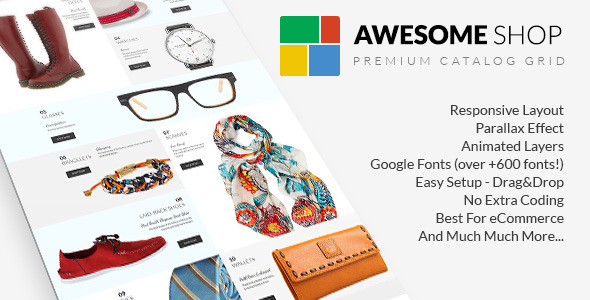 CodeCanyon Awesome Shop Premium Catalog Grid 9327513