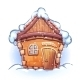 Winter Home Cartoon - GraphicRiver Item for Sale