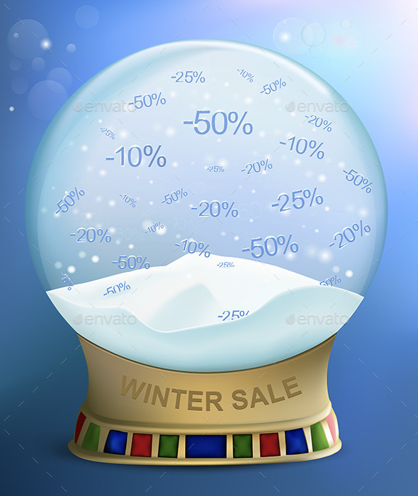 GraphicRiver Snow Globe with Percents Discounts 9327517