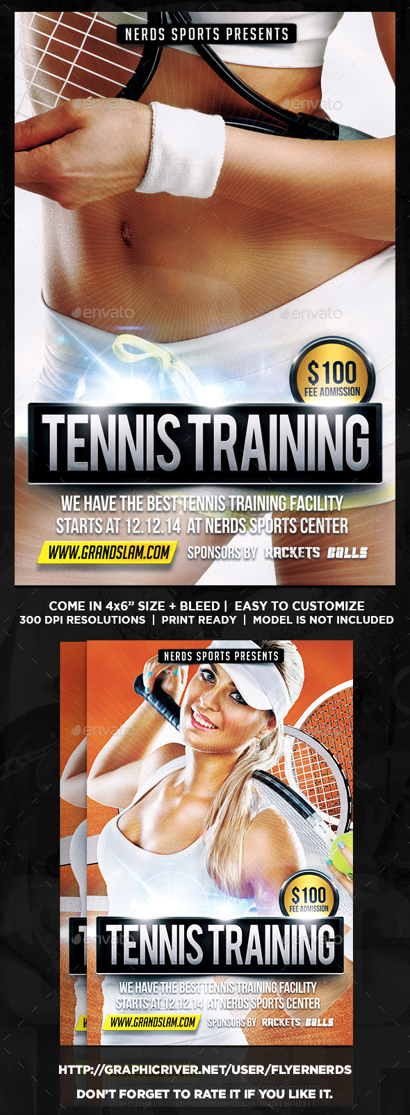 GraphicRiver Tennis Training Flyer 9327522