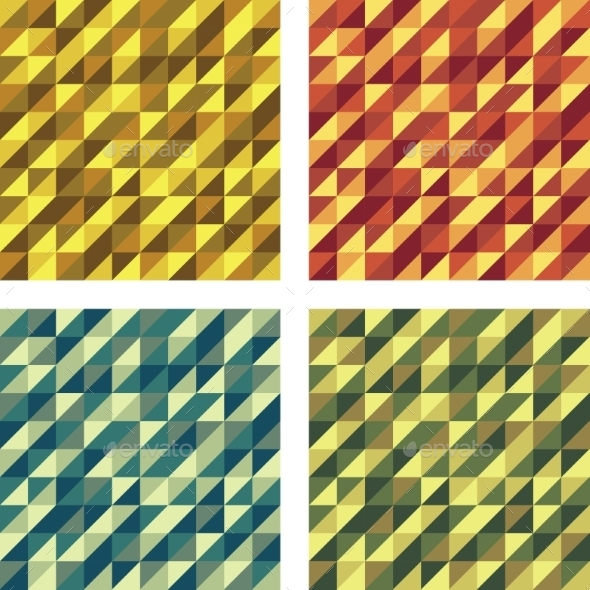 GraphicRiver Set of Colorful Geometric Seamless Textures 9327620