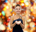smiling woman in evening dress with diamond - PhotoDune Item for Sale