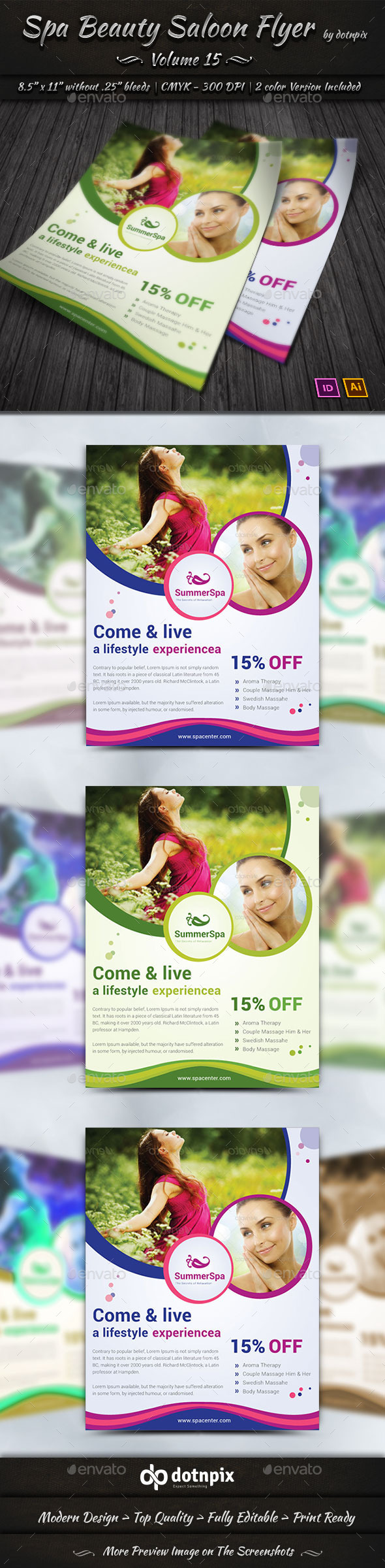 GraphicRiver Spa & Beauty Saloon Flyer Volume 15 9327697