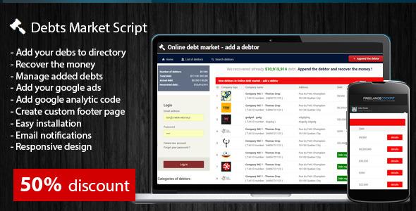 CodeCanyon Debt Market Script 9226120