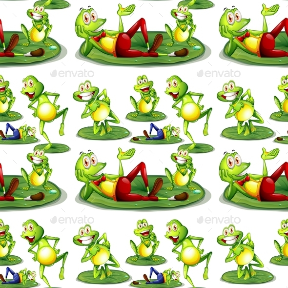 GraphicRiver Seamless Frogs 9328075
