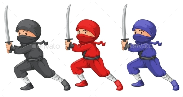 GraphicRiver Three Ninjas 9328094