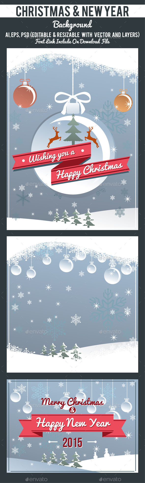 GraphicRiver Christmas Background 9328115