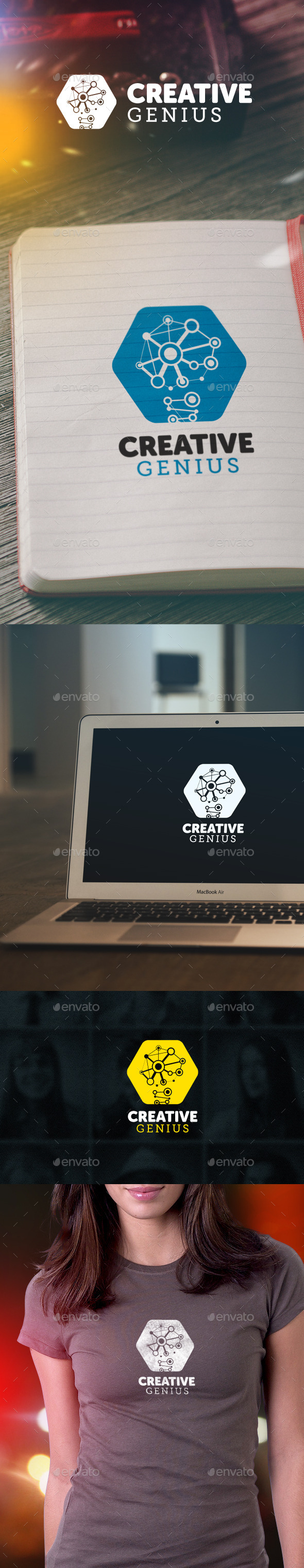 GraphicRiver Creative Genius Logo 9328139