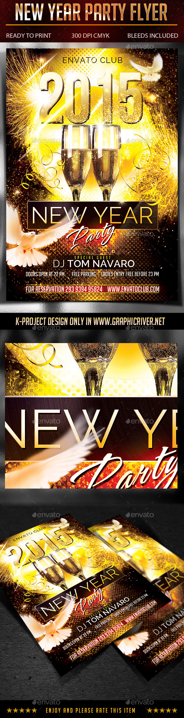 GraphicRiver New Year Party Flyer 9328560