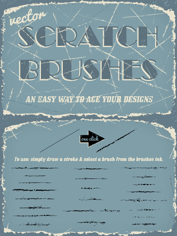 GraphicRiver Vector Scratch Brushes 9328561