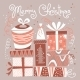 Christmas Card with Gift Boxes. - GraphicRiver Item for Sale
