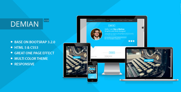 ThemeForest Demian Clean & Responsive Resume Template< 9328623
